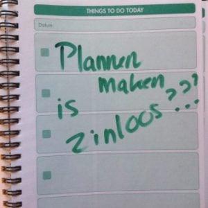 plannen maken is zinloos